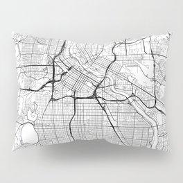 Minneapolis Map White Pillow Sham