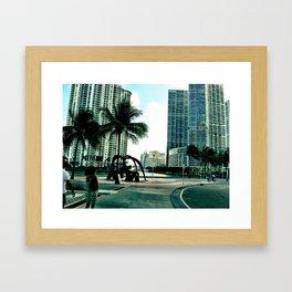 blue city Framed Art Print