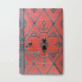 Red Door - Prague, Czech Republic Metal Print