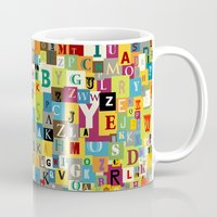 alphabet Mugs featuring Alphabet by Rceeh