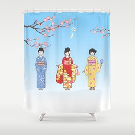 Kimono Basics Shower Curtain