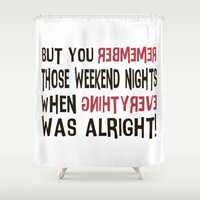 punk rock Shower Curtains featuring No Room For You • Punk Rock Lyrics by Designerpunk