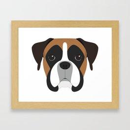 Boxer Portrait Framed Art Print