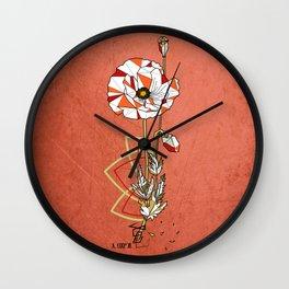 Coquelicot - geometric flower Wall Clock