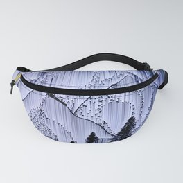 a winter night at the snowed mountains Fanny Pack