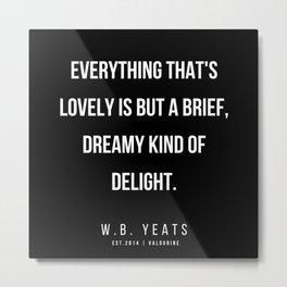 50    |200418| W.B. Yeats Quotes| W.B. Yeats Poems Metal Print