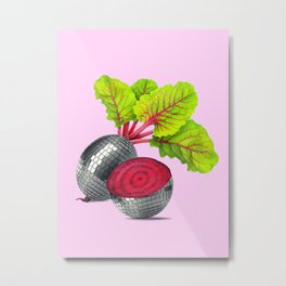 let the beet drop Metal Print