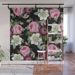 Floral enchant - night Wall Mural