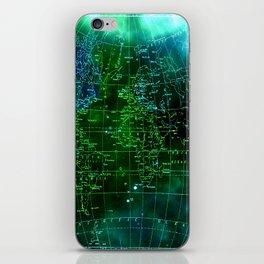 earth map iPhone Skin