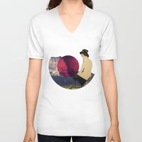 japan V-neck T-shirts featuring Japan by Blaz Rojs