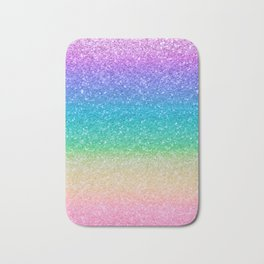 Rainbow Glitter Bath Mat