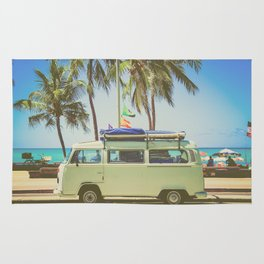 Surf Van Road Trip Beach California Rug