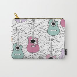 Cool pop music guitar illustration pattern Carry-All Pouch