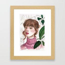 Girl Portrait 1 Framed Art Print