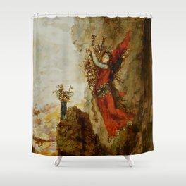 "Gustave Moreau ""Sappho in Leucadia"" Shower Curtain"