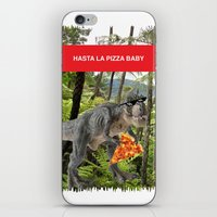 trex iPhone & iPod Skins featuring PIZZA TREX!! by anthonykun