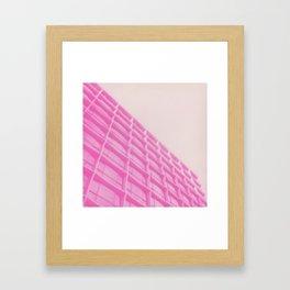 Pink Building Framed Art Print