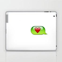 Emoji heart conversation case Laptop & iPad Skin
