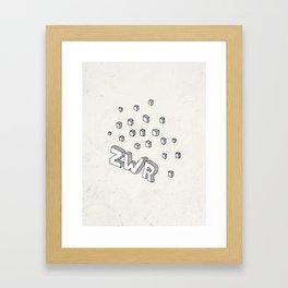 ZWR sugarcubes Framed Art Print