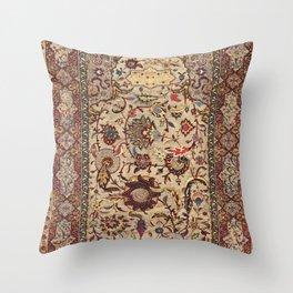 Safavid Silk Metal-Thread Persian Rug Print Throw Pillow