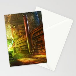 Magical Graceful Old Antique Library Witchcraft Sorcerer Globe Ultra HD Stationery Cards