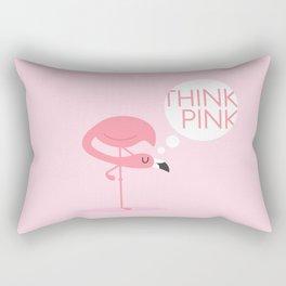 flamingo think pink Rectangular Pillow