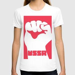 USSR Fist poster T-shirt