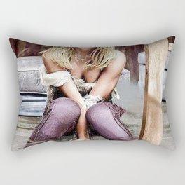 britney unedited album Rectangular Pillow
