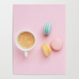 Macaroons & Coffee Poster