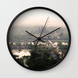 View from a Balloon Wall Clock