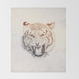 Timmy the Tiger Throw Blanket