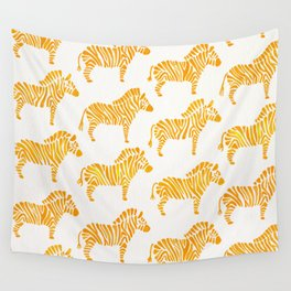 Zebras – Yellow Palette Wall Tapestry