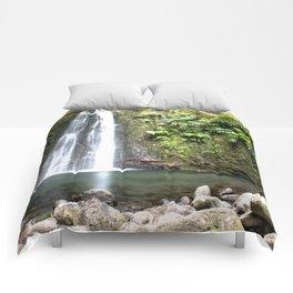 lime green waterfall Comforters