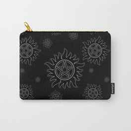 Anti Possession Pattern White Glow Carry-All Pouch