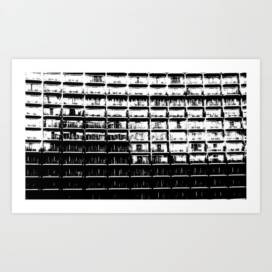 Apartments Just the Same Art Print