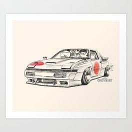 Crazy Car Art 0182 Art Print