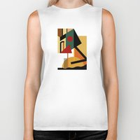 kandinsky Biker Tanks featuring THE GEOMETRIST by THE USUAL DESIGNERS