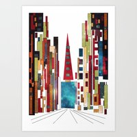 buildings Art Prints featuring Buildings by March Hunger