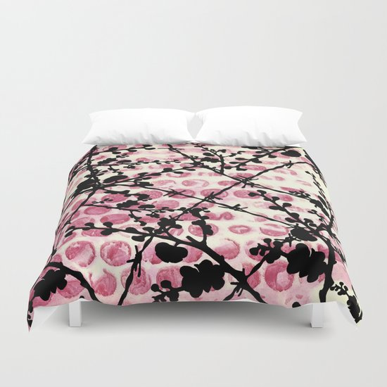 Barbed Flowers Duvet Cover