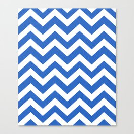 True Blue - blue color - Zigzag Chevron Pattern Canvas Print