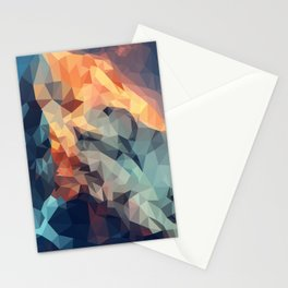 Mountain low poly Stationery Cards