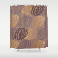 calligraphy Shower Curtains featuring Calligraphy 4 by Johs
