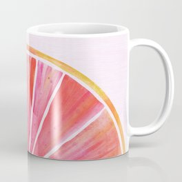 Sunny Grapefruit Watercolor Coffee Mug