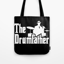 The Drumfather Funny Gift For Drummer design Tote Bag