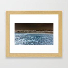 Negative Beach = Positive Vibe Framed Art Print