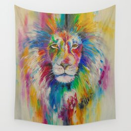 Rainbow lion  Wall Tapestry