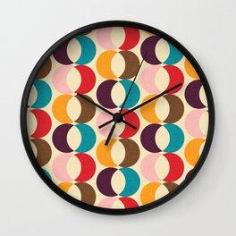 Mid Century Modern Circles Wall Clock