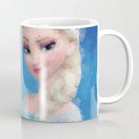 frozen elsa Mugs featuring Elsa - Frozen by lauramaahs