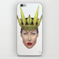 evil queen iPhone & iPod Skins featuring Evil Queen by Christina Quackenbush
