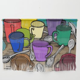 Cups and Spoons Wall Hanging